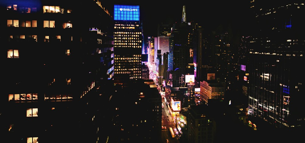 new york city times square night time photo